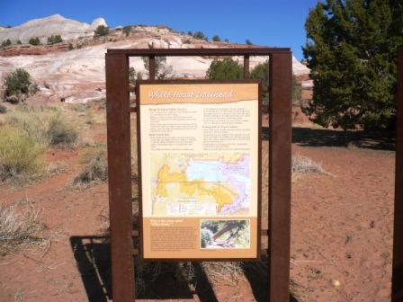 Whitehouse trailhead, the starting point