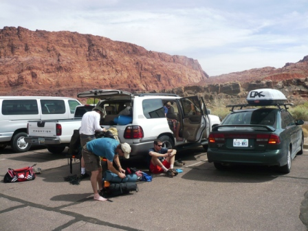 Packing up at Lee's Ferry, Colorado River