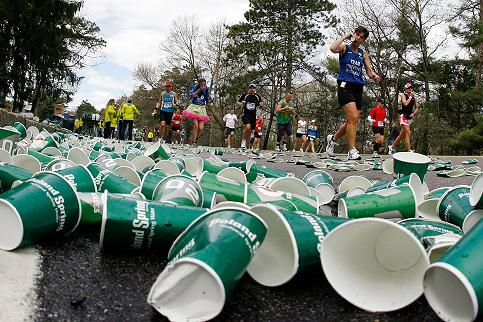 River of cups -- AP photo