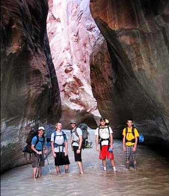 My brother's group in the narrows, two days earlier