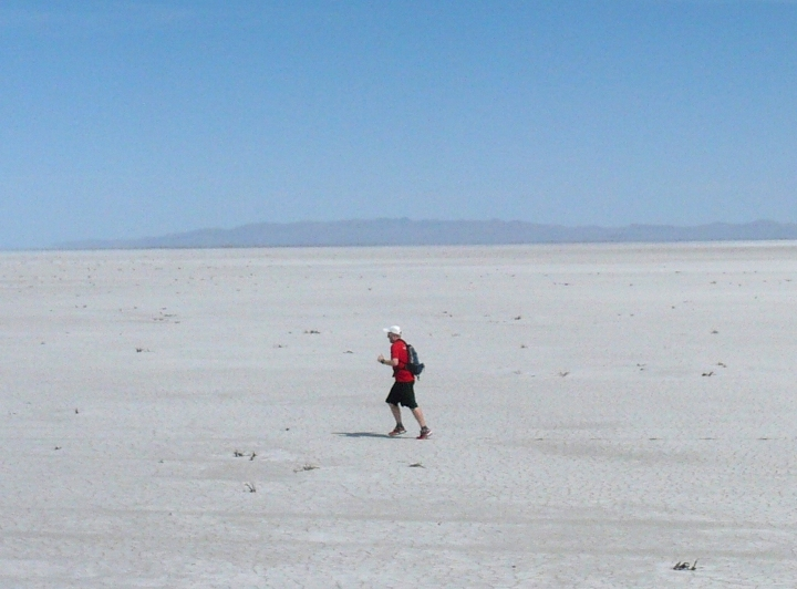 Kevin out on the salt mud flats