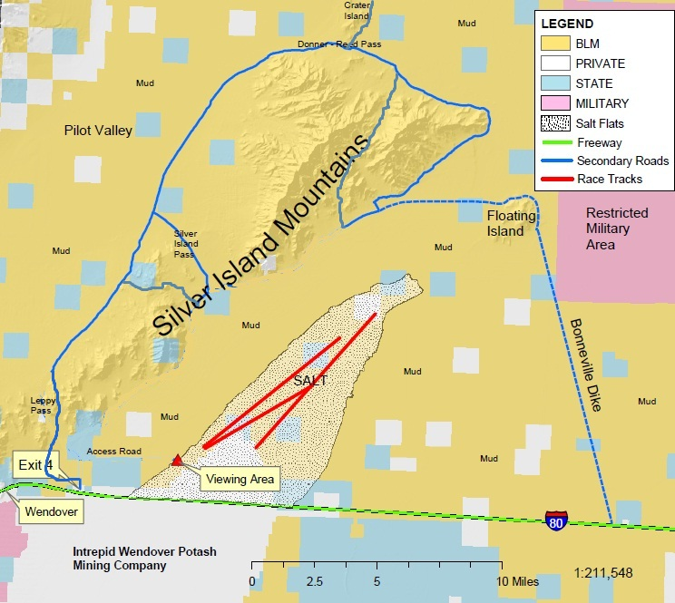 Course route in blue.  The course extends several miles further north on Crater Island.