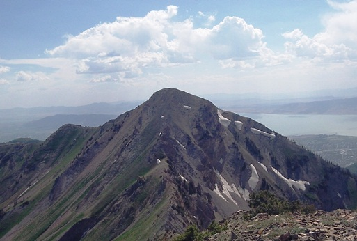 View of Provo Peak from East Peak