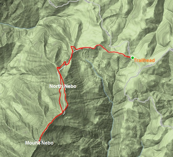 My route on Mount Nebo