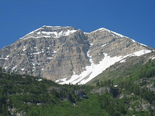 North Timpanogos as seen during the day