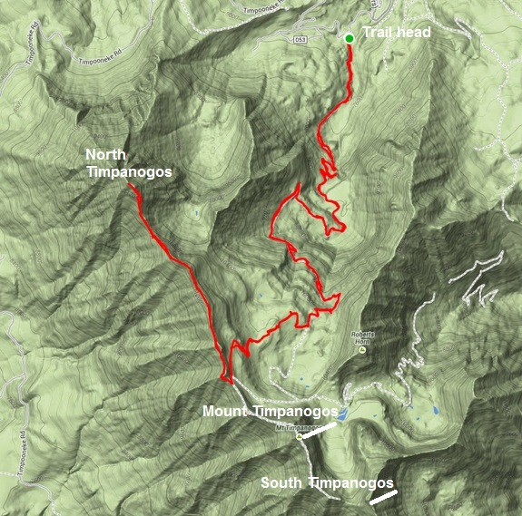 My route on Timpanogos