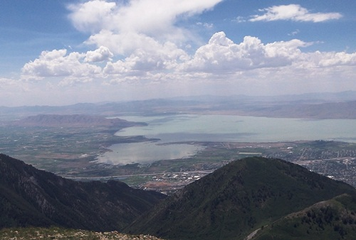 View of Utah Valley from Provo Peak