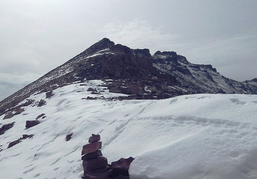 View of Kings Peak from Anderson Pass