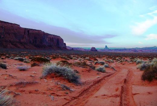Sandy trail along the base of Mitchell Mesa - Matt Watts photo