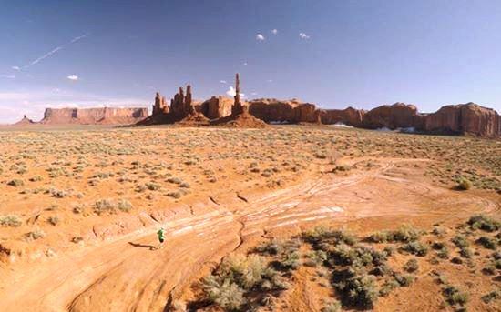 Me, running in toward Totem Pole.