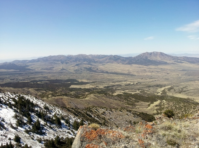 Looking west from the top of Red Pine Mountain