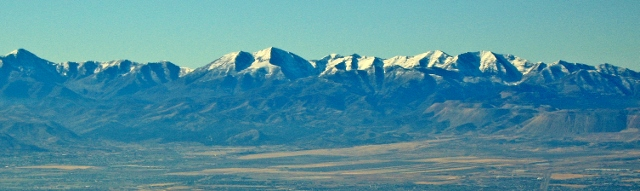 Flat Top mountain and the Oquirrh mountains