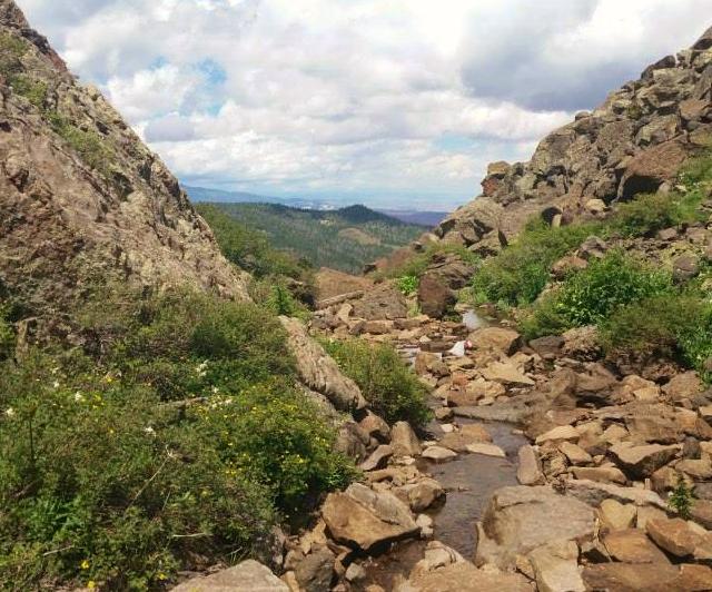 Rough route descending Fish Creek - Jim Skaggs photo