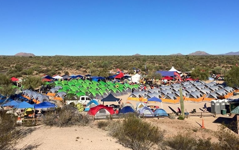 Start/Finish area.  Many runners camped out the night before in tents provided.