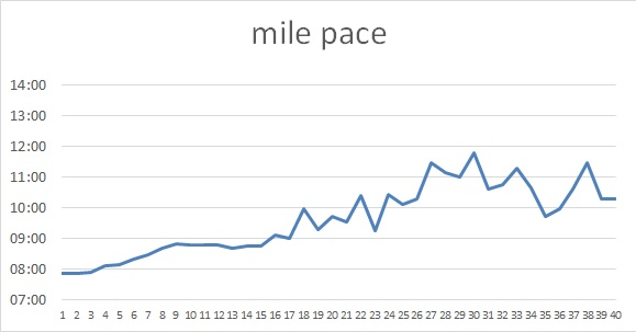 mile pace for the first 40 miles