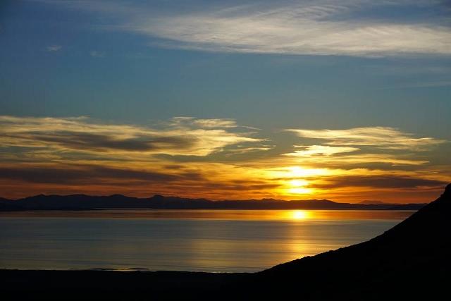 Sunset on Antelope Island. Craig Lloyd photo.