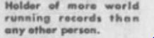 Another case: This appeared In a 1980 newspaper advertiement promoting the ultrarunner's clothing line.  He actually held no ligitimate world records. His were all invvented.