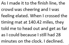 From Kelly Agnew's race report after claiming to run a world-class 140 miles in 24 hours at 2015 Jackpot 24.